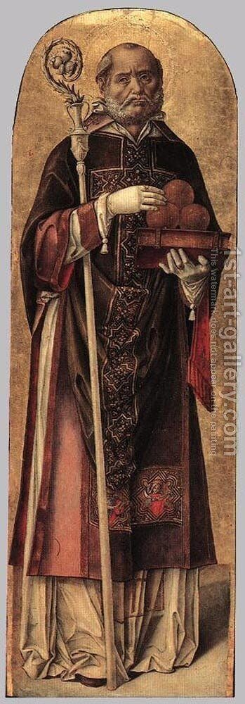 St Nicholas of Bari by Bartolomeo Vivarini - Reproduction Oil Painting