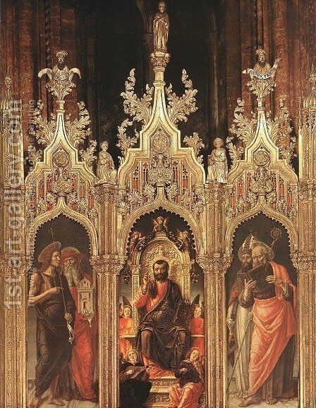 Triptych of St Mark 1474 by Bartolomeo Vivarini - Reproduction Oil Painting