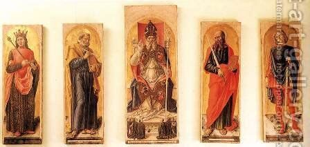 St Ambrose Polyptych 1477 by Bartolomeo Vivarini - Reproduction Oil Painting