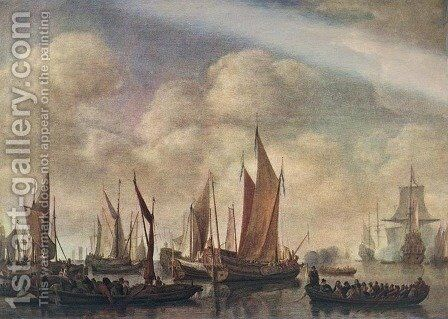 Visit of Frederick Hendriks II to Dordrecht in 1646,  1650 by Simon De Vlieger - Reproduction Oil Painting