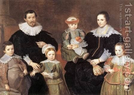 The Family of the Artist 1630-35 by Cornelis De Vos - Reproduction Oil Painting