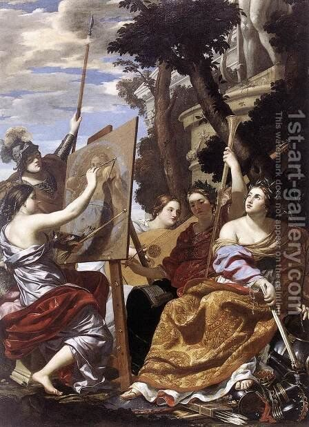 Allegory of Peace c. 1627 by Simon Vouet - Reproduction Oil Painting