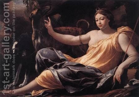 Diana 1637 by Simon Vouet - Reproduction Oil Painting