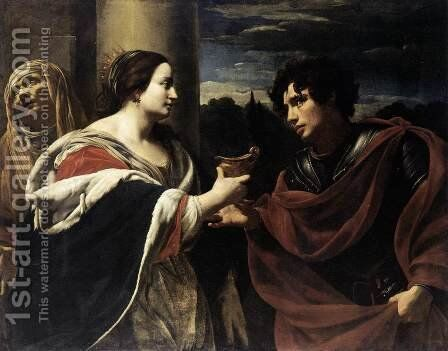 Sophonisba Receiving the Poisoned Chalice c. 1623 by Simon Vouet - Reproduction Oil Painting