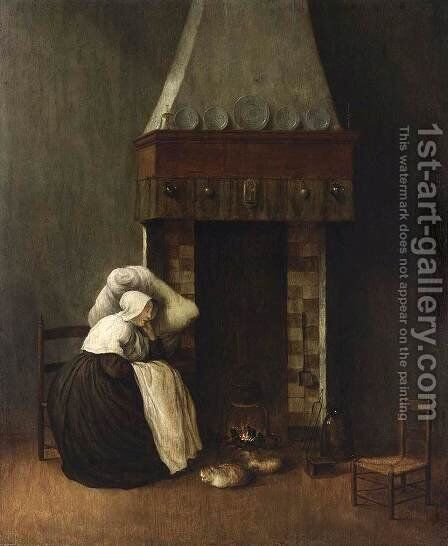 Sleeping Woman (The Convalescent) 1654 by Jacobus Vrel - Reproduction Oil Painting