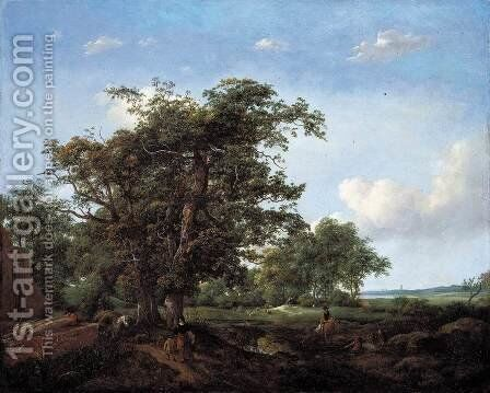 Pastoral Landscape c. 1650 by Cornelis Hendricksz. The Younger Vroom - Reproduction Oil Painting