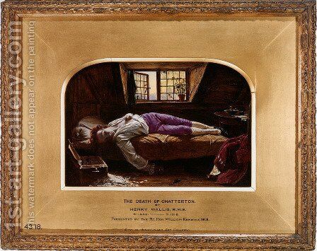 The Death of Chatterton 1856 by Henry Wallis - Reproduction Oil Painting