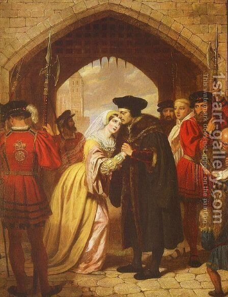 Sir Thomas More's Farewell to his Daughter by Edward Matthew Ward - Reproduction Oil Painting