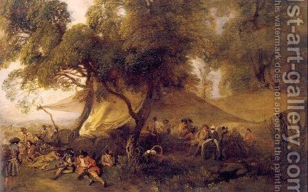 Respite from War 1713 by Jean-Antoine Watteau - Reproduction Oil Painting