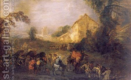 The Burdens of War 1713 by Jean-Antoine Watteau - Reproduction Oil Painting