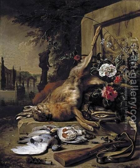 Still-Life of Game 1703 by Jan Weenix - Reproduction Oil Painting