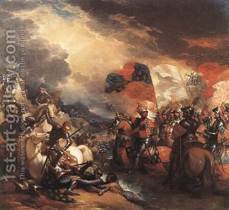 Edward III Crossing the Somme 1788 by Benjamin West - Reproduction Oil Painting