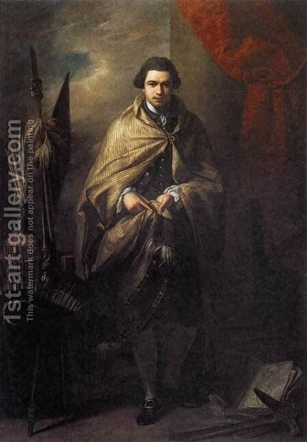 Joseph Banks 1773 by Benjamin West - Reproduction Oil Painting