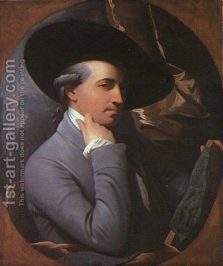 Self-Portrait 1770 by Benjamin West - Reproduction Oil Painting