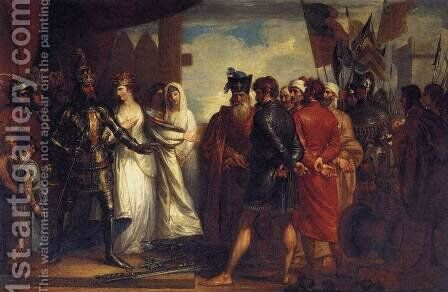 The Burghers of Calais 1789 by Benjamin West - Reproduction Oil Painting
