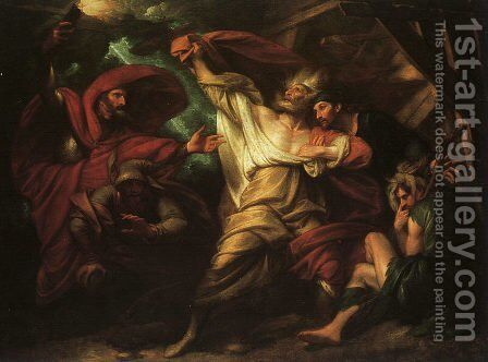 King Lear, 1788 by Benjamin West - Reproduction Oil Painting