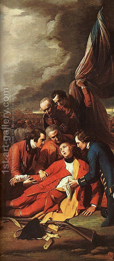 The Death of Wolfe  (detail) 1770 by Benjamin West - Reproduction Oil Painting