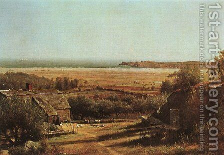 House by the Sea 1872 by Thomas Worthington Whittredge - Reproduction Oil Painting