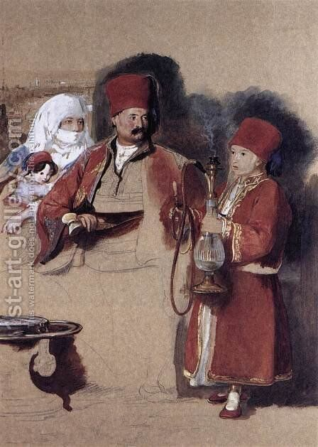 Sotiri, Dragoman of Mr Colquhoun 1840 by Sir David Wilkie - Reproduction Oil Painting