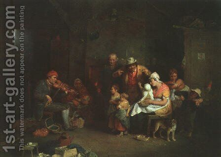 The Blind Fiddler 1806 by Sir David Wilkie - Reproduction Oil Painting