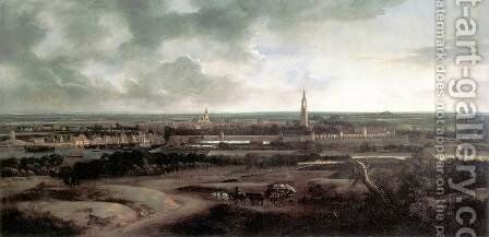 View of Amersfoort c. 1671 by Mathias Withoos - Reproduction Oil Painting