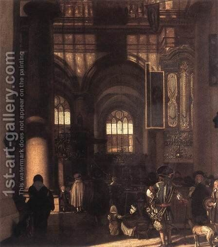 Interior of a Church 1674 by Emanuel de Witte - Reproduction Oil Painting
