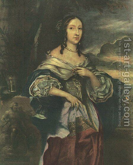 Mrs. Claypole 1658 by Michael Wright - Reproduction Oil Painting