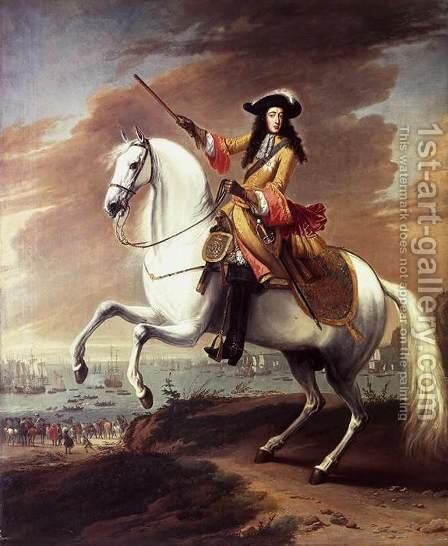 William III Landing at Brixham, Torbay 1688 by Jan Wyck - Reproduction Oil Painting