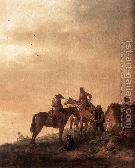 Rider's Rest Place by Philips Wouwerman - Reproduction Oil Painting