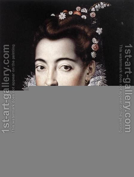 Portrait of a Lady 1570s by Jacopo Zucchi - Reproduction Oil Painting