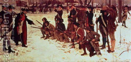 Baron von Steuben drilling American recruits at Valley Forge in 1778,  1911 by Edwin Austin Abbey - Reproduction Oil Painting