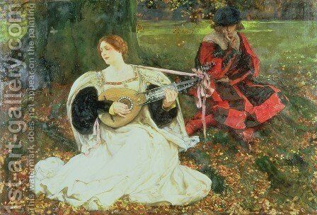 Fair Is My Love 1900 by Edwin Austin Abbey - Reproduction Oil Painting