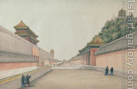 The Imperial Palace in Peking, from a collection of Chinese Sketches, 1804-06 by Ivan Alexandrow - Reproduction Oil Painting
