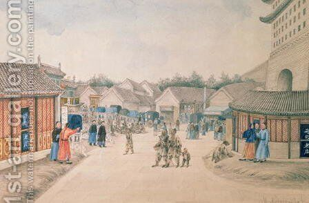 Tsyan-Minh Bridge, from Chinese Sketches, 1804-06 by Ivan Alexandrow - Reproduction Oil Painting