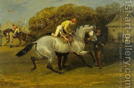 Jockey Mounting by Henry Thomas Alken - Reproduction Oil Painting