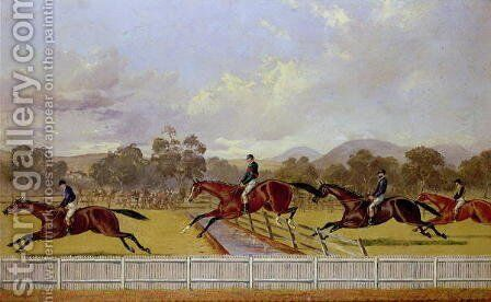 A Steeplechase by Henry Thomas Alken - Reproduction Oil Painting