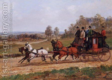 Coaching Scene by Henry Thomas Alken - Reproduction Oil Painting