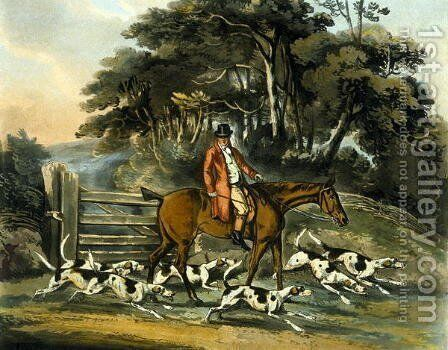 Going Out, from 'Fox Hunting' by Henry Thomas Alken - Reproduction Oil Painting