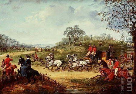 Going to the Meet by Henry Thomas Alken - Reproduction Oil Painting