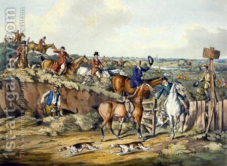 Gone Away, from 'Foxhunting' by Henry Thomas Alken - Reproduction Oil Painting