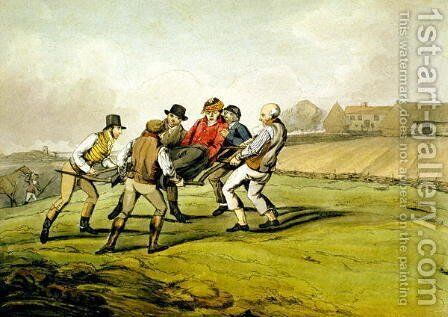 Injured, from 'Qualified Horses and Unqualified Riders', 1815 by Henry Thomas Alken - Reproduction Oil Painting