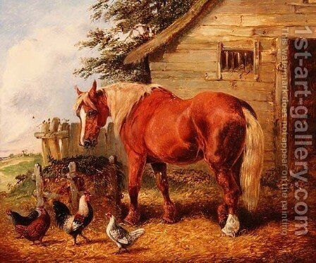 Outside the stable by Henry Thomas Alken - Reproduction Oil Painting