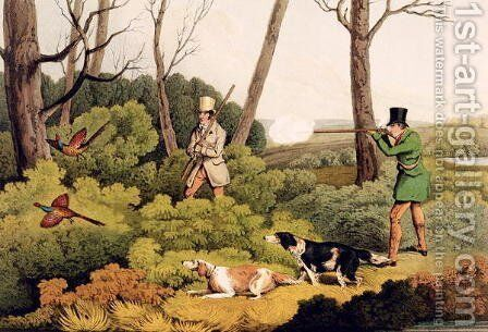 'Pheasant Shooting', pub. by Thomas McLean, 1820 by Henry Thomas Alken - Reproduction Oil Painting