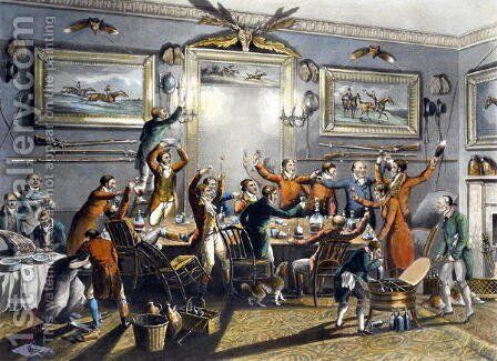 The Toast, from 'Foxhunting', engraved by Thomas Sutherland by Henry Thomas Alken - Reproduction Oil Painting