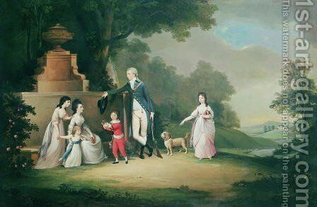 The Kinloch Family of Kair by David Allan - Reproduction Oil Painting