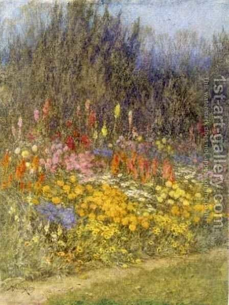 A Bit of Autumn Border by Helen Mary Elizabeth Allingham, R.W.S. - Reproduction Oil Painting