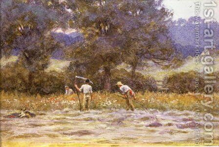 The Mowers by Helen Mary Elizabeth Allingham, R.W.S. - Reproduction Oil Painting