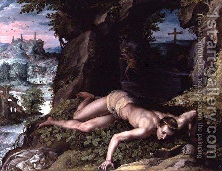 The Temptation of St. Benedict  c.1587 by Alessandro Allori - Reproduction Oil Painting