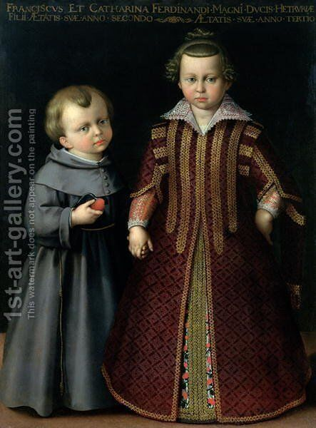 Francesco and Caterina de Medici by Cristofano Allori - Reproduction Oil Painting