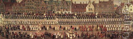 The Ommeganck in Brussels on 31st May 1615- Procession of Notre Dame de Sablon by Denys Van Alsloot - Reproduction Oil Painting